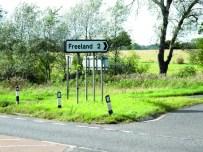 Freeland road sign