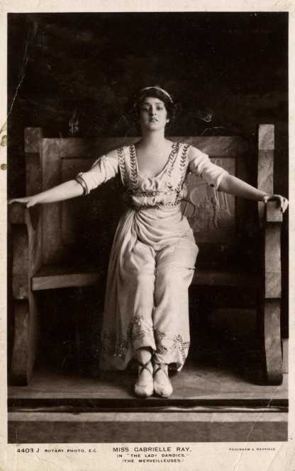 """Miss Gabrielle Ray"" in ""The Lady Dandies"", 1907."