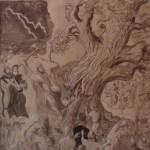 Saint Boniface abat le chêne de Thor – étude / study for painting