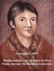 Demasduit, a Beothuk, 1819, an illustration for Cod Almighty