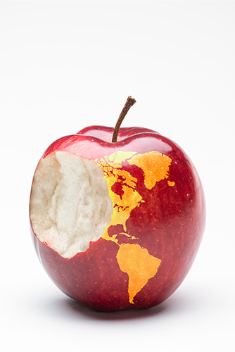 bite out of apple, map