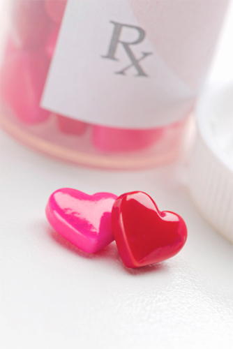 love remedy, heart shaped pills