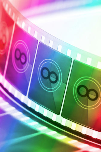 multicoloured film countdown strip