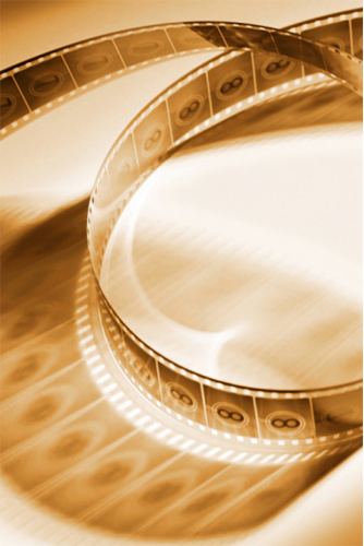 countdown film strip, sepia