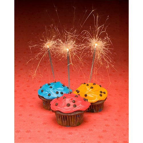 cupcakes, sparklers