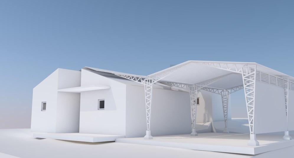 Vivienda Render Blanco Propuesta Univer City