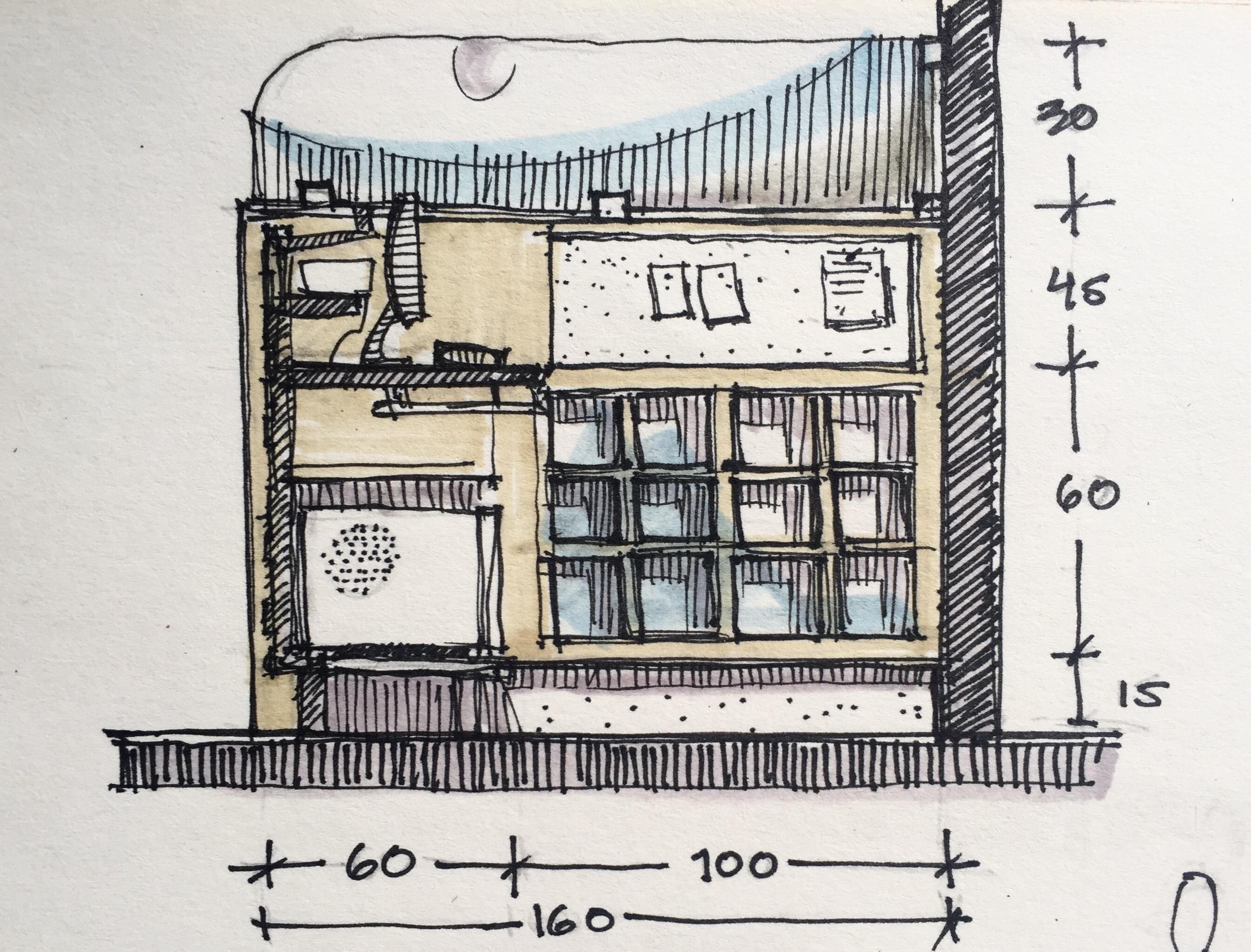 Interior design furniture sketch