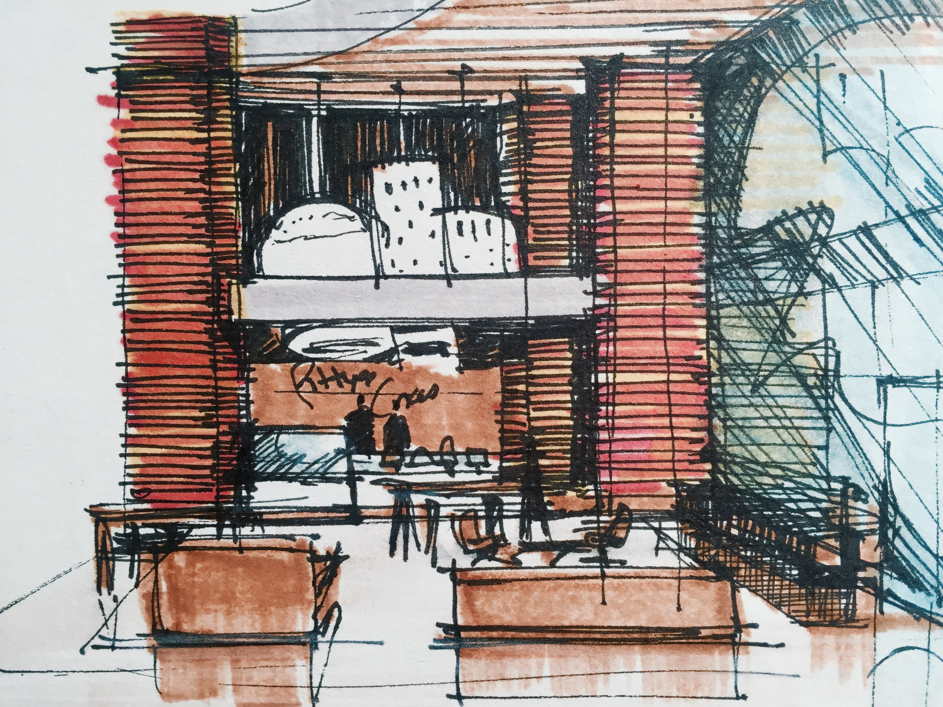 Bakery Shop Design Sketches
