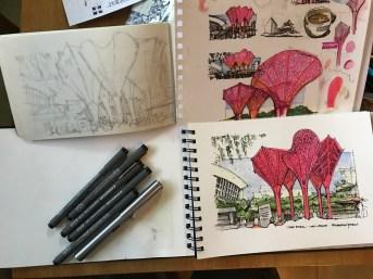 The Plaza 2 #CofeeSketch16 #Inktober7