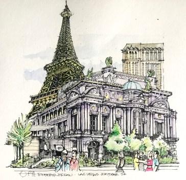 Paris in Vegas Sketch