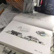 Barn house Sketch 01