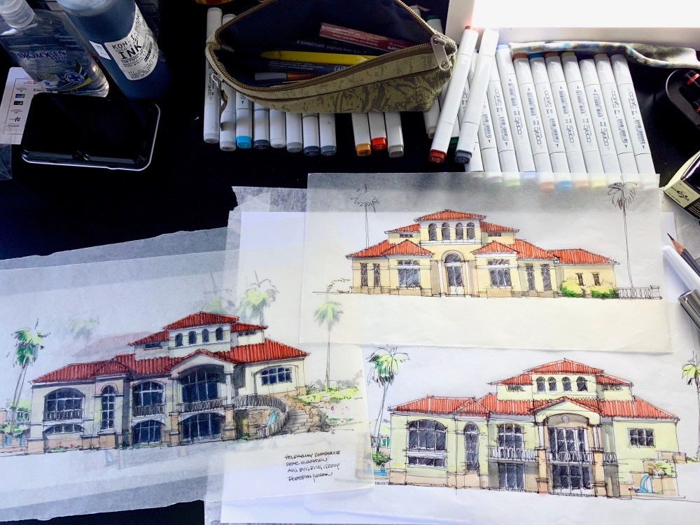 Mediterranean House Project Sketches
