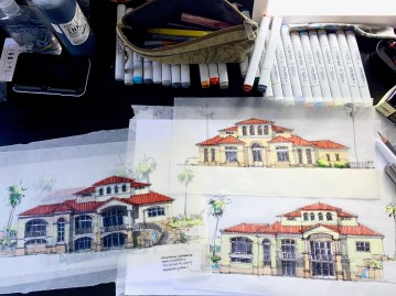 Sketching a House in Dallas