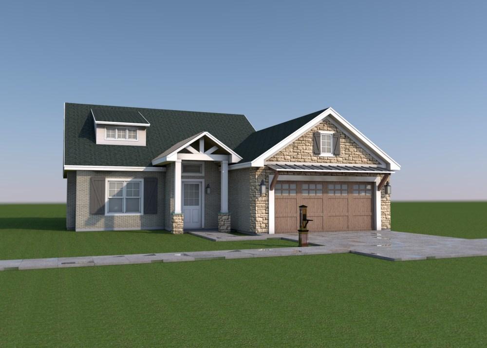 Farmhouse Front view - Tyler - House Design