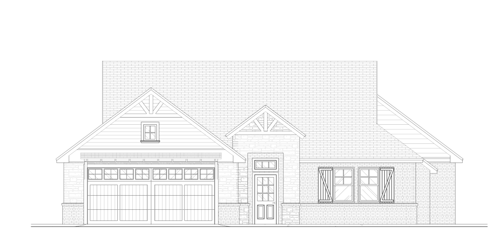 House Design - Farmhouse Front Elevation Plan