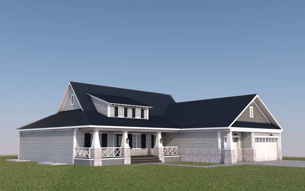 Craftsman Style House front view