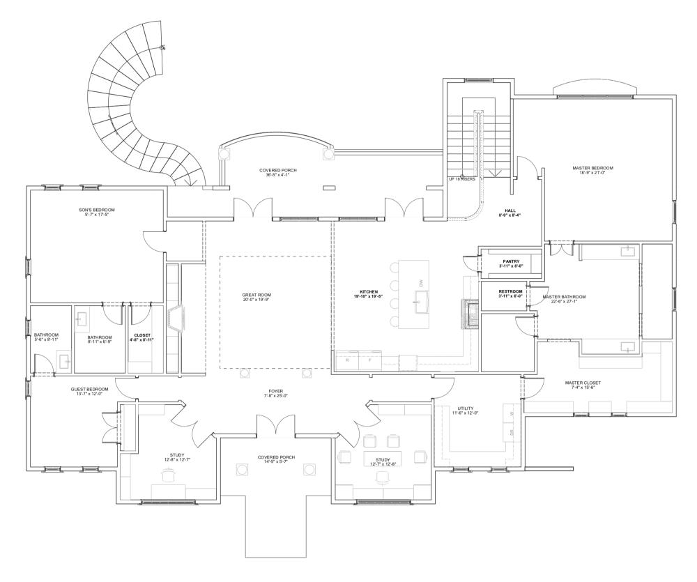 Home plan  Main Floor