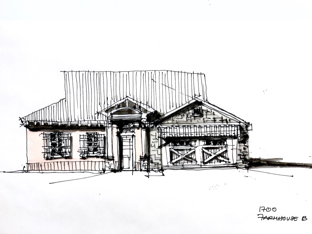 House in Denison​ Sketch