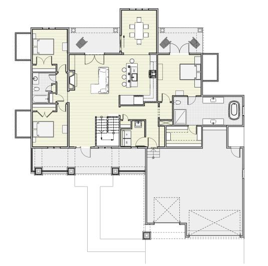 Craftsman Style - House Plan