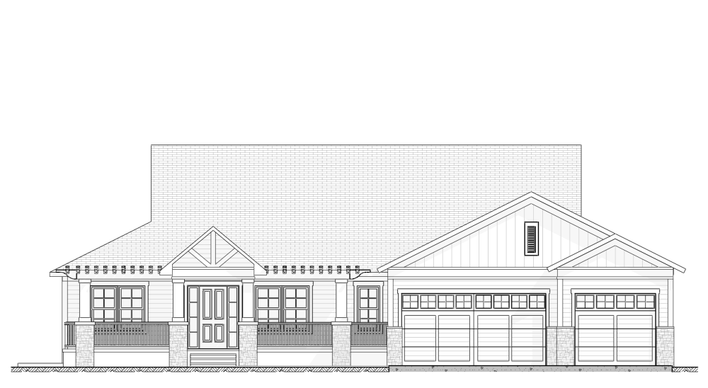 Southern Style - House Plan Elevation