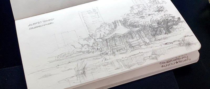 Colorado River Park - Urbansketch