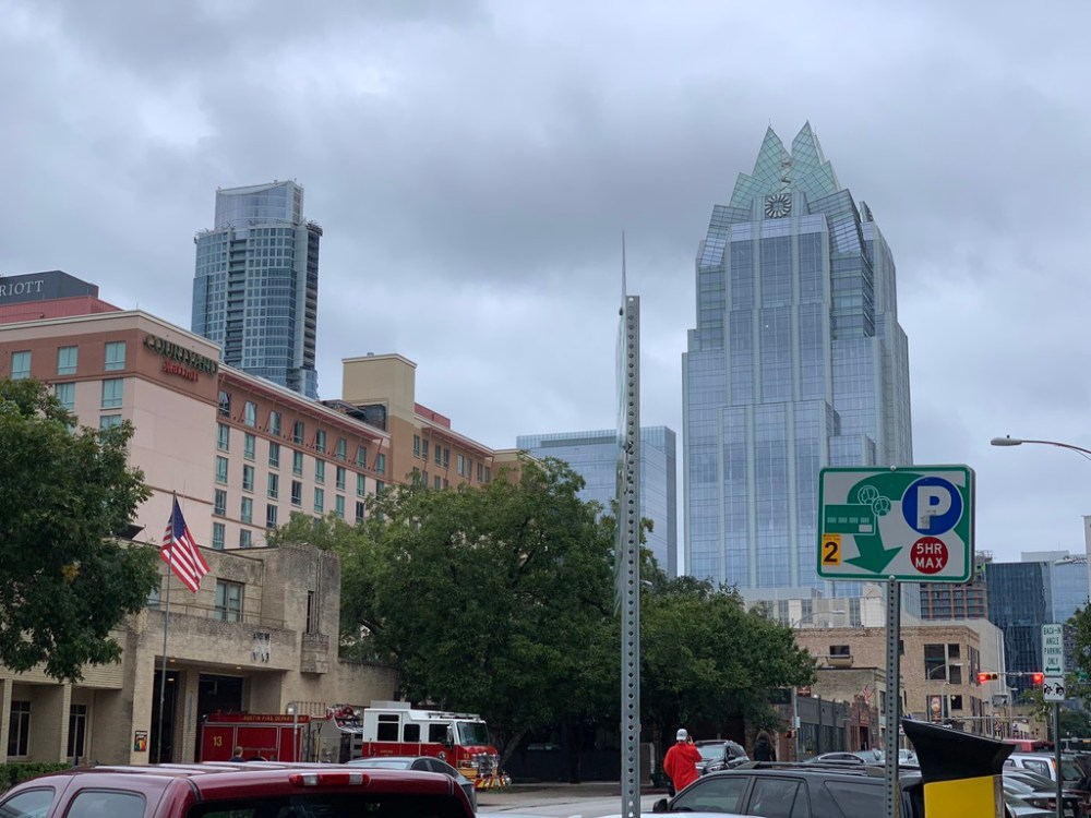 Austin Downtown Walk Frost Bank Tower