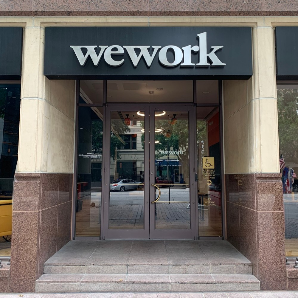 Office front Wework - Austin Downtown Walk