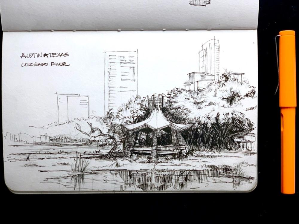 Colorado River Walk Sketch