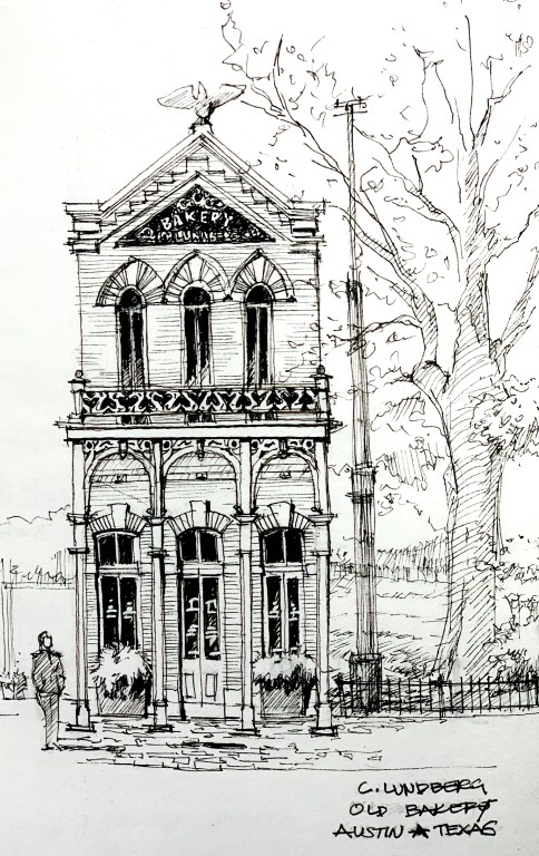 Old Bakery Building Sketch
