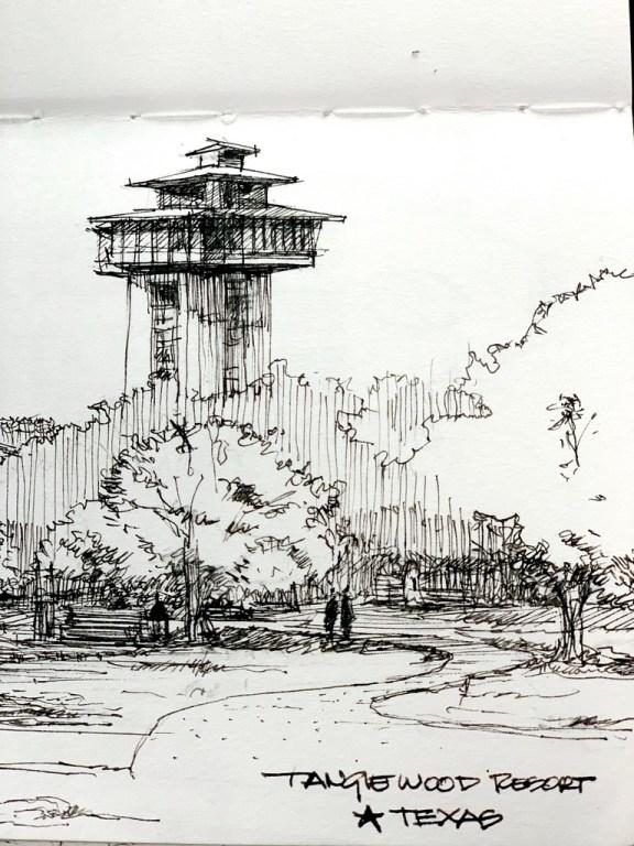 Tanglewood Resort Sketch