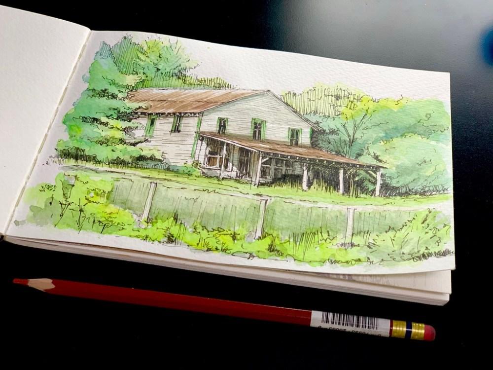 Sunday Snap Sketch - Farmhouse Sketch