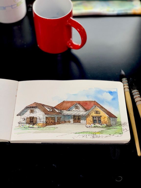 Moleskine House Sketch