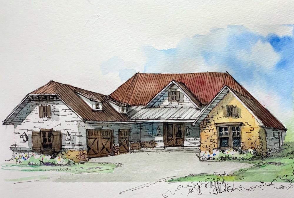 Golf Club House Sketch