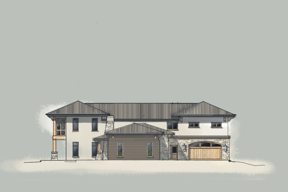 Prairie House - Digital Sketch