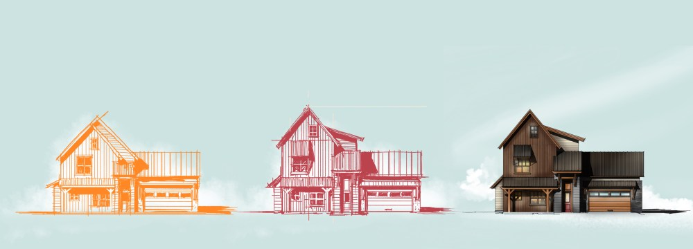 House Elevation Sketch Process