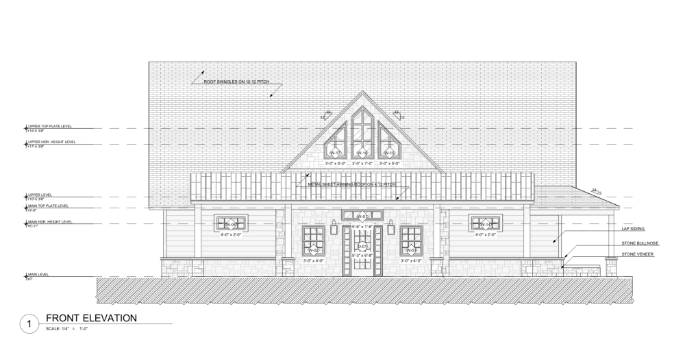 Lake House Design - Front