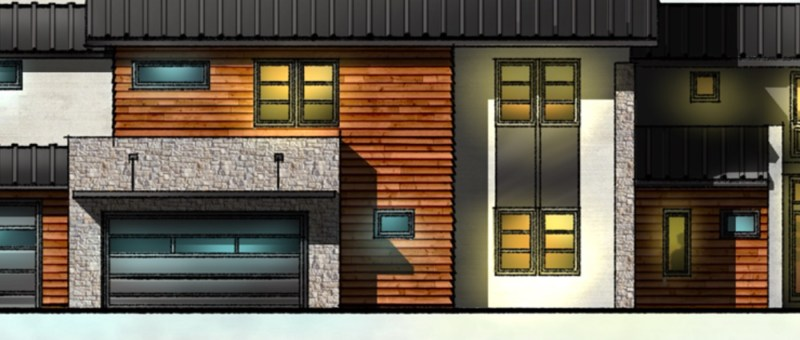 Contemporary House elevation sketch