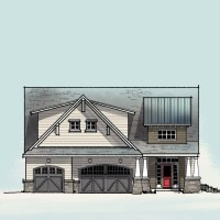 Craftsman Front Elevations - Chef House