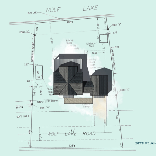 Lake House Site plan