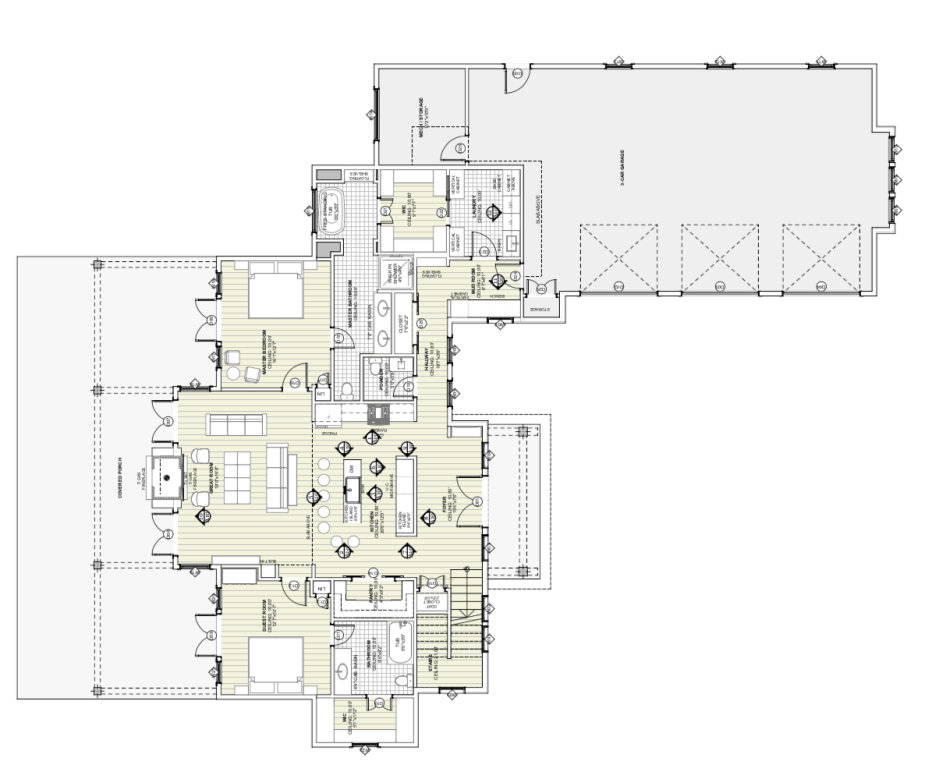 Farmhouse Main Level Floor Plan