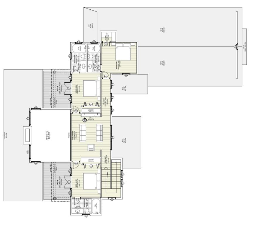 Farmhouse Upper Level Floor Plan