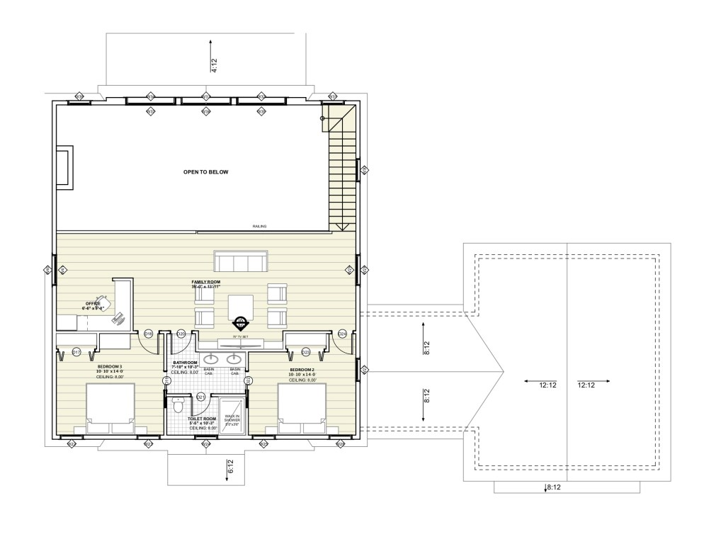 Glazed Gable Lakehouse Floor Plan