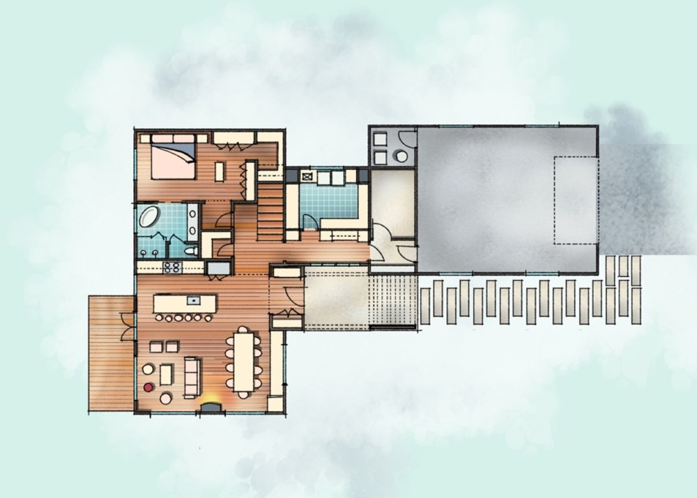 Lake House Floor Plan Setch