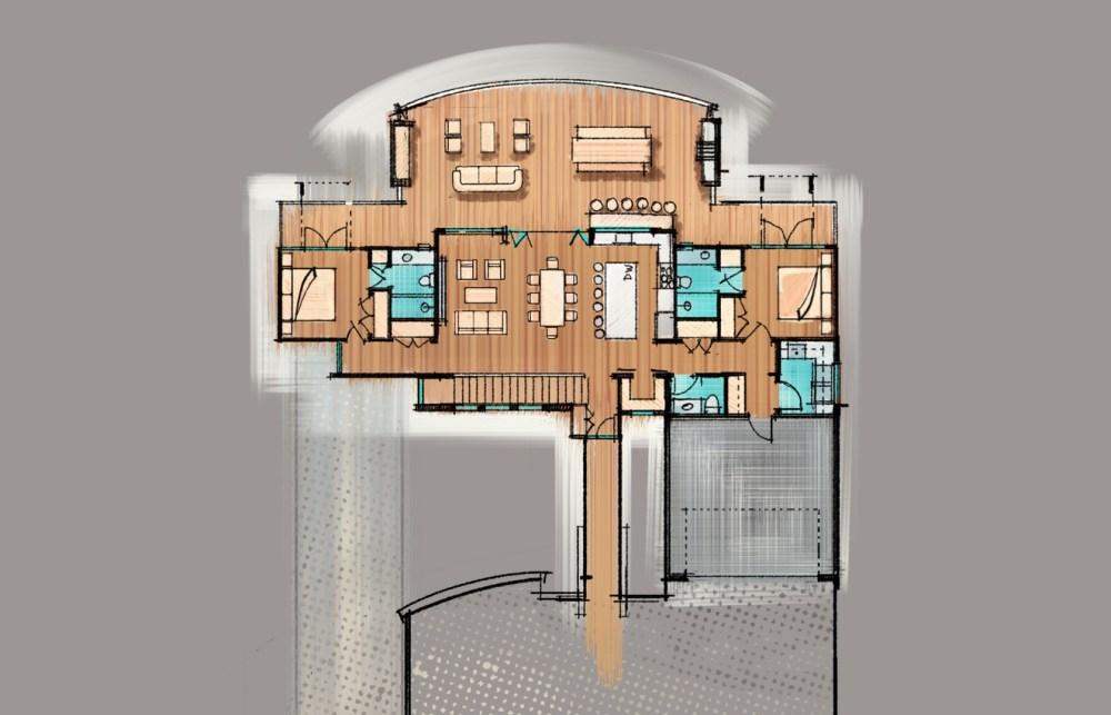 Rustic also Modern Farmhouse Sketch Floor Plan