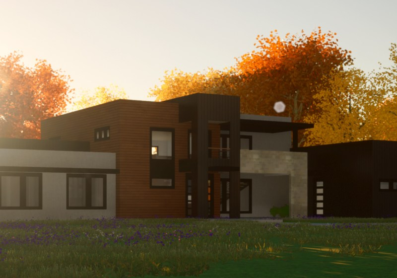 Contemporary House Plan Render