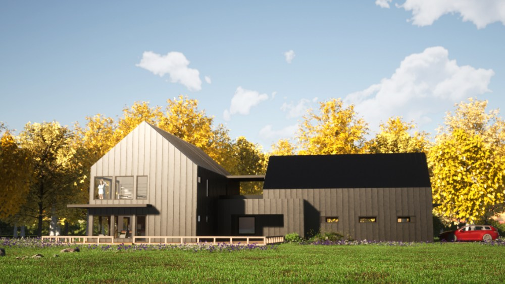 Minimalist Barn House