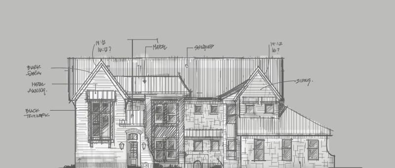Euro-Style House Illustration