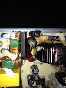 Damage in the PSU