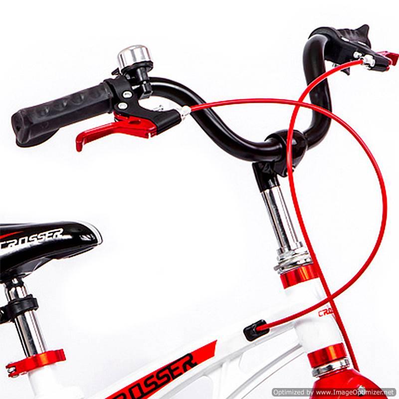 Bicicletă pentru copii Magnesium White&Red Crosser