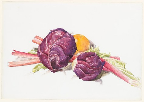 Red CabbagesRubarb and Orange - Demuth, The Met